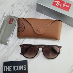 Ray Ban Erika Tortoise Matte Sunglasses